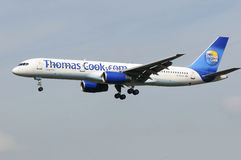 Thomas Cook Boeing 757 UK Royalty Free Stock Photography