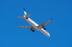 Thomas Cook Condor Boeing 757-300 is taking off from Tenerife South airport on January 13, 2016 Stock Photos