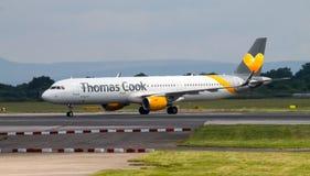 Thomas Cook drogi oddechowe Aerobus A320 Fotografia Stock