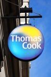 Thomas Cook-embleem reclameteken Royalty-vrije Stock Foto