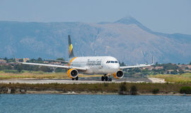 Thomas Cook Taxiing Obraz Royalty Free