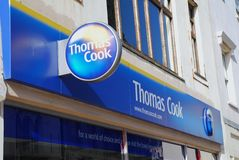 Thomas Cook travel agents, Hastings Stock Images