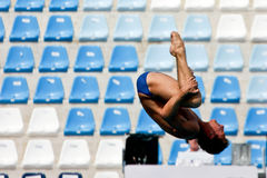 Thomas Daley from Great Britain. 10m platform diving at the FINA World Championship - Roma 2009 Stock Photo