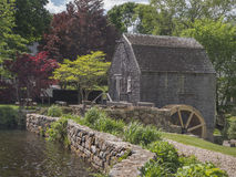 Thomas Dexter's Grist Mill, Sandwich, MA. USA. One of the oldest water mill sites existing in the United States today, Dexter's Grist Mill, has Plymouth Colony Stock Photos