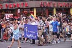 Thomas Dinapoli in gay parade Manhattan Royalty Free Stock Photography
