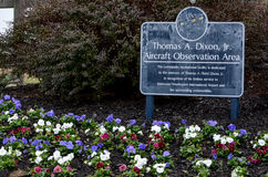 Thomas A. Dixon, Jr. Aircraft observation Area Sign. Age in Washington Royalty Free Stock Image