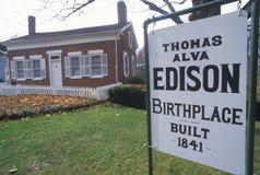 Thomas Edison博物馆出生地  免版税库存照片