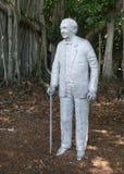 Thomas Edison的雕象 免版税库存图片
