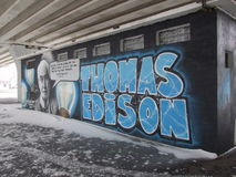 Thomas Edison arkivbild