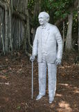 Thomas Edison's statue. This statue can be found in the Ford/Edison Estate in Fort Myers, Florida Royalty Free Stock Images