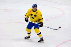 Thomas Eriksson (27) in actie Royalty-vrije Stock Afbeelding