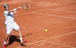 Thomas Fabbiano playing at ATP Genoa Open Royalty Free Stock Images