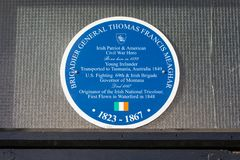 Thomas Francis Meagher Plaque in Waterford Royalty Free Stock Photography