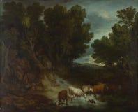 Thomas Gainsborough - die Wasserentnahmestelle lizenzfreie stockbilder
