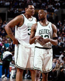 Thomas Hamilton y Todd Day, Celtics de Boston Imagenes de archivo