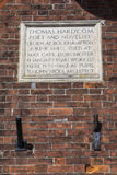 Thomas Hardy Plaque in Dorchester Royalty Free Stock Photos