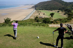 Thomas Haylock at the Pleneuf Val Andre golf Challenge 2013 Stock Image