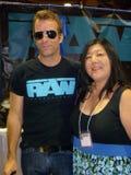 Thomas Jane. And fan  at Long Beach Comic and Horror Con, Long Beach Convention Center, Long Beach, CA 10-30-11 Stock Photos