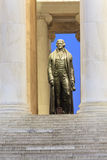 Thomas Jefferson Bronze Statue Blue Hour Washington DC Royalty Free Stock Image