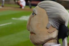 Thomas Jefferson mascot Washington Nationals game Stock Image