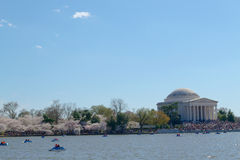 Thomas Jefferson Memorial during the Cherry blossom festival Stock Photo