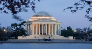 Thomas Jefferson Memorial, crepuscolo, centro commerciale nazionale, Washington D C Fotografia Stock Libera da Diritti