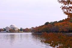 Thomas Jefferson Memorial in fall. Royalty Free Stock Photo
