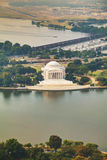Thomas Jefferson Memorial flyg- sikt i Washington, DC Royaltyfri Bild