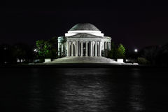 Thomas Jefferson Memorial at night royalty free stock photography
