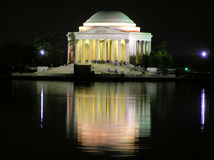 Thomas Jefferson Memorial by night, Washington Stock Photo
