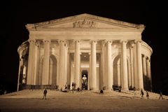 Thomas Jefferson Memorial at Night. The Thomas Jefferson Memorial in Washington D.C taken at Night Royalty Free Stock Photos