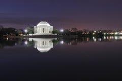 Thomas Jefferson Memorial at Night Washington DC Stock Images