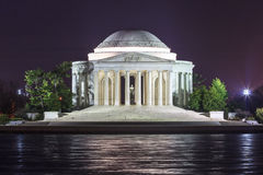 Thomas Jefferson Memorial at Night in Washington, DC Stock Photography