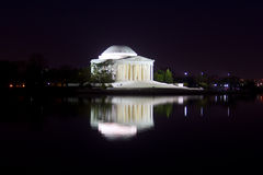Thomas Jefferson Memorial at night Royalty Free Stock Photos