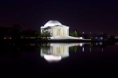 Thomas Jefferson Memorial at night. Thomas Jefferson Memorial in Washington DC magnificently lit at night Royalty Free Stock Photos