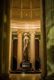 Thomas Jefferson Memorial Statue nachts Lizenzfreies Stockbild
