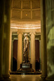 Thomas Jefferson Memorial Statue at Night. Thomas Jefferson, author of the Declaration of Independence, Statesman and Visionary for the founding of a Nation Royalty Free Stock Image