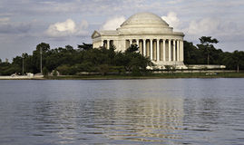 The Thomas Jefferson Memorial, Washington D.C. Walking around the pond is very relaxing and allows you to connect with US history Royalty Free Stock Images