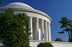 Thomas Jefferson Memorial Washington DC. Beautiful Jefferson Memorial with greek revival columns in Washington DC, USA. Constucted on white marble Stock Photography