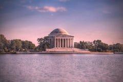 Thomas Jefferson minnesmärkeWashington DC fotografering för bildbyråer