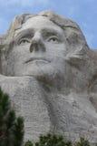 Thomas Jefferson on Mount Rushmore stock photography