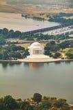 Thomas Jefferson Pamiątkowy widok z lotu ptaka w Waszyngton, DC Obraz Royalty Free