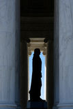 Thomas Jefferson pomnika sylwetka obraz stock