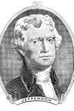Thomas Jefferson portrait Stock Images