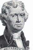Thomas Jefferson portrait. On a white background stock photo