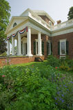 Thomas Jefferson's Monticello. Front of Thomas Jefferson's Monticello, in Charlottesville, Virginia Stock Photography