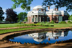 Thomas Jefferson's Monticello. Monticello is the house and plantation of Thomas Jefferson, the third President of the United States Royalty Free Stock Photo