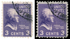 Thomas Jefferson stamp Stock Photography