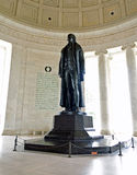Thomas Jefferson Statue. Statue of President Thomas Jefferson in the rotunda of the Jefferson Memorial in Washington, D.C Royalty Free Stock Images
