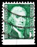 Thomas Jefferson 1743-1826, terzo presidente, serie famoso degli Americani, circa 1968 fotografia stock
